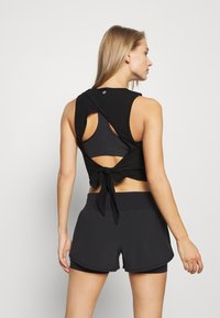 Cotton On Body - LIFESTYLE TIE UP MUSCLE TANK - Top - black - 2