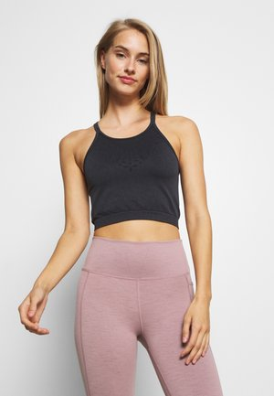 CROCHET SEAMFREE VESTLETTE - Topper - washed black