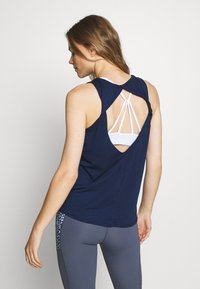 Cotton On Body - TWO IN ONE TWIST TANK - Top - navy/white - 2