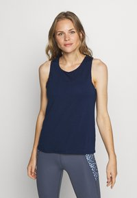 Cotton On Body - TWO IN ONE TWIST TANK - Top - navy/white - 0