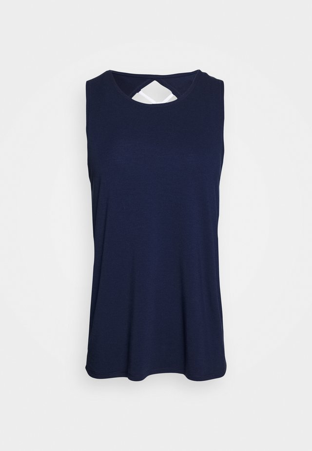 TWO IN ONE TWIST TANK - Toppe - navy/white
