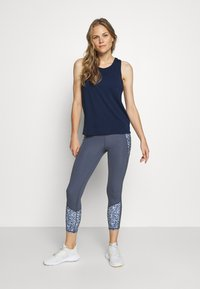 Cotton On Body - TWO IN ONE TWIST TANK - Top - navy/white - 1