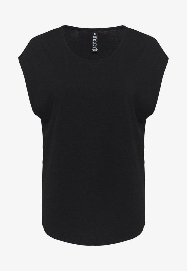 ACTIVE SCOOP HEM - Funkční triko - black