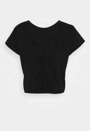 LIFESTYLE TWIST BACK TEE - T-shirts med print - black