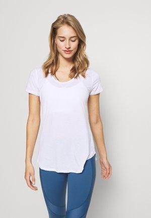 GYM 2 PACK - Basic T-shirt - grey marle/white