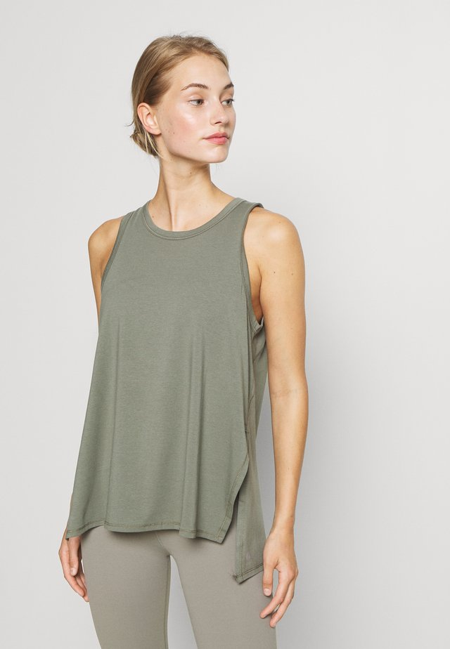 LONGLINE SPLIT HEM TANK - Topper - steely shadow