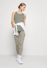 Cotton On Body - LONGLINE SPLIT HEM TANK - Topper - steely shadow - 1