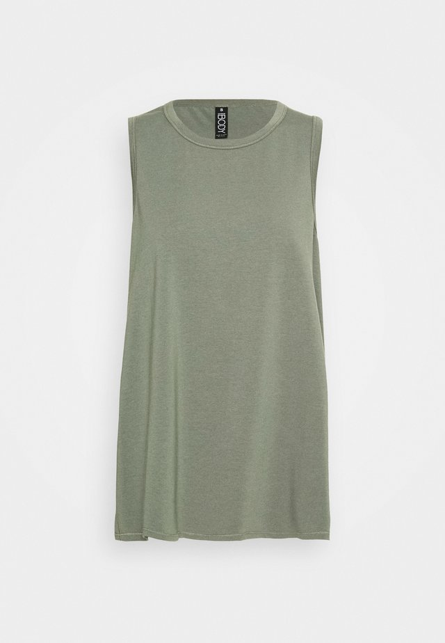 LONGLINE SPLIT HEM TANK - Toppe - steely shadow