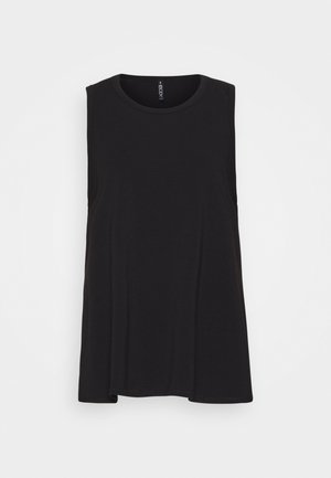 LONGLINE SPLIT HEM TANK - Top - black