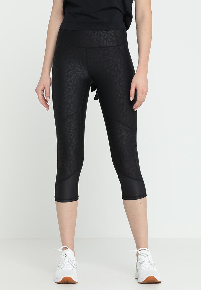 Cotton On Body - PLACEMENT PRINT CROP - Tights - black