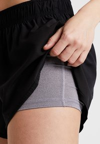 Cotton On Body - MOVE JOGGER SHORT - Urheilushortsit - black/ mid grey marl - 3