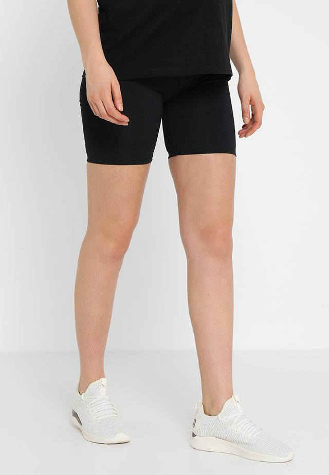 MATERNITY BIKE SHORT - Tights - black