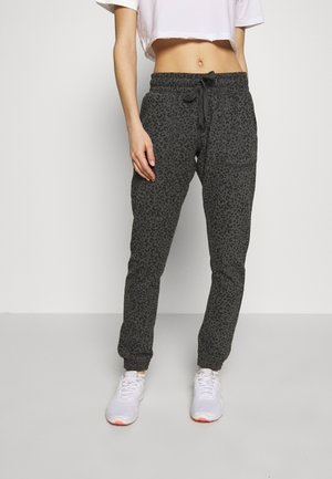 GYM TRACKPANT - Joggebukse - charcoal leopard