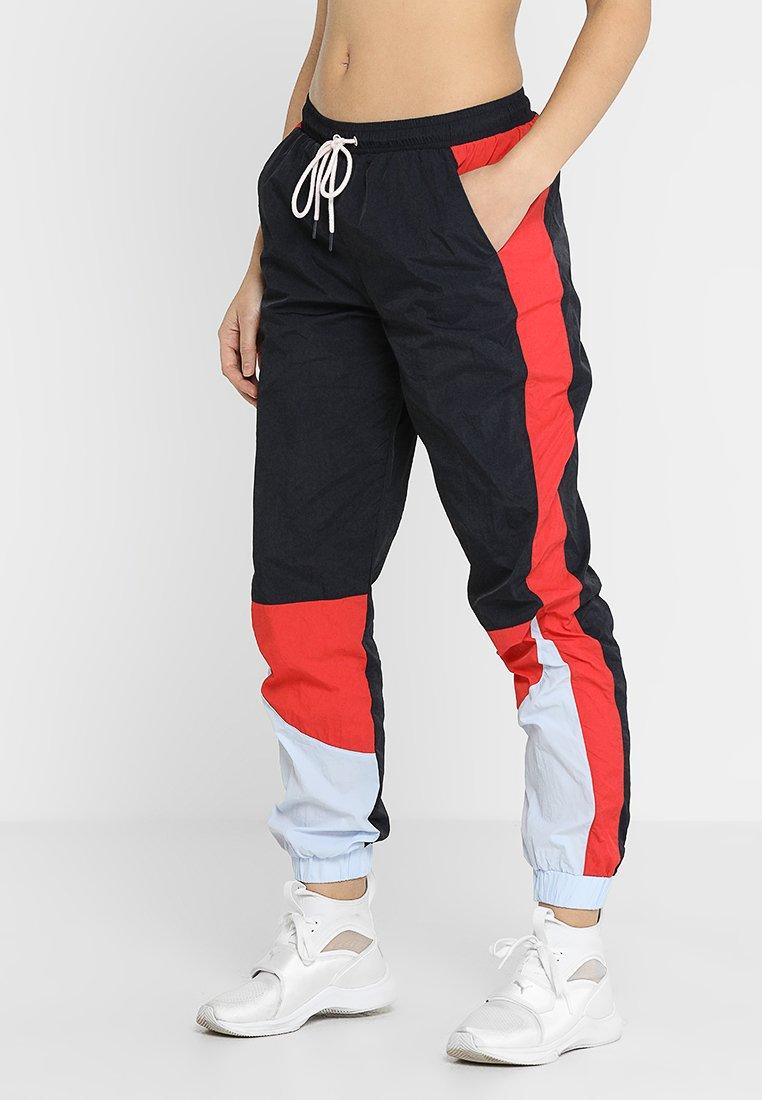 Cotton On Body - CRINKLE TRACK PANT - Træningsbukser - navy/red
