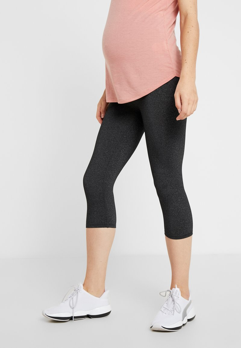 Cotton On Body - MATERNITY CORE CAPRI - 3/4 sports trousers - charcoal marle