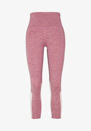 SO SOFT 7/8 - Leggings - washed rose/marle splice