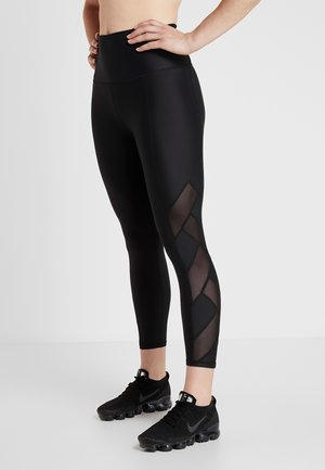 CROSS OVER 7/8 - Leggings - black