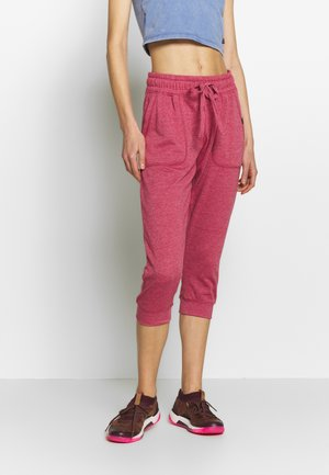 CROPPED GYM TRACKPANT - 3/4 sports trousers - baroque rose marle