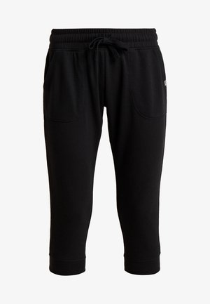 CROPPED GYM TRACKPANT - 3/4 sports trousers - black