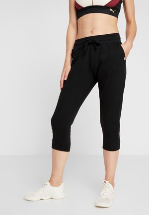CROPPED GYM TRACKPANT - Pantalón 3/4 de deporte - black
