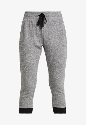 CROPPED GYM TRACKPANT - 3/4 sports trousers - black/varsity