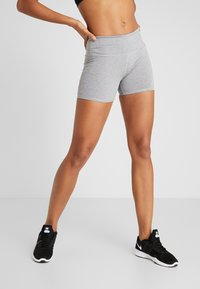 Cotton On Body - HIGHWAISTED SHORT - Leggings - mid grey marle - 0
