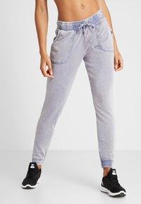 Cotton On Body - WASHED GYM TRACKPANT - Pantalones deportivos - ultra marine - 0