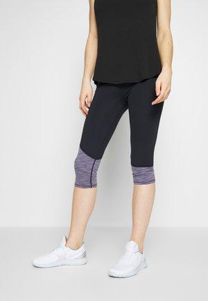 PANELLED HEM CAPRI - 3/4 sports trousers - ash amethyst marle