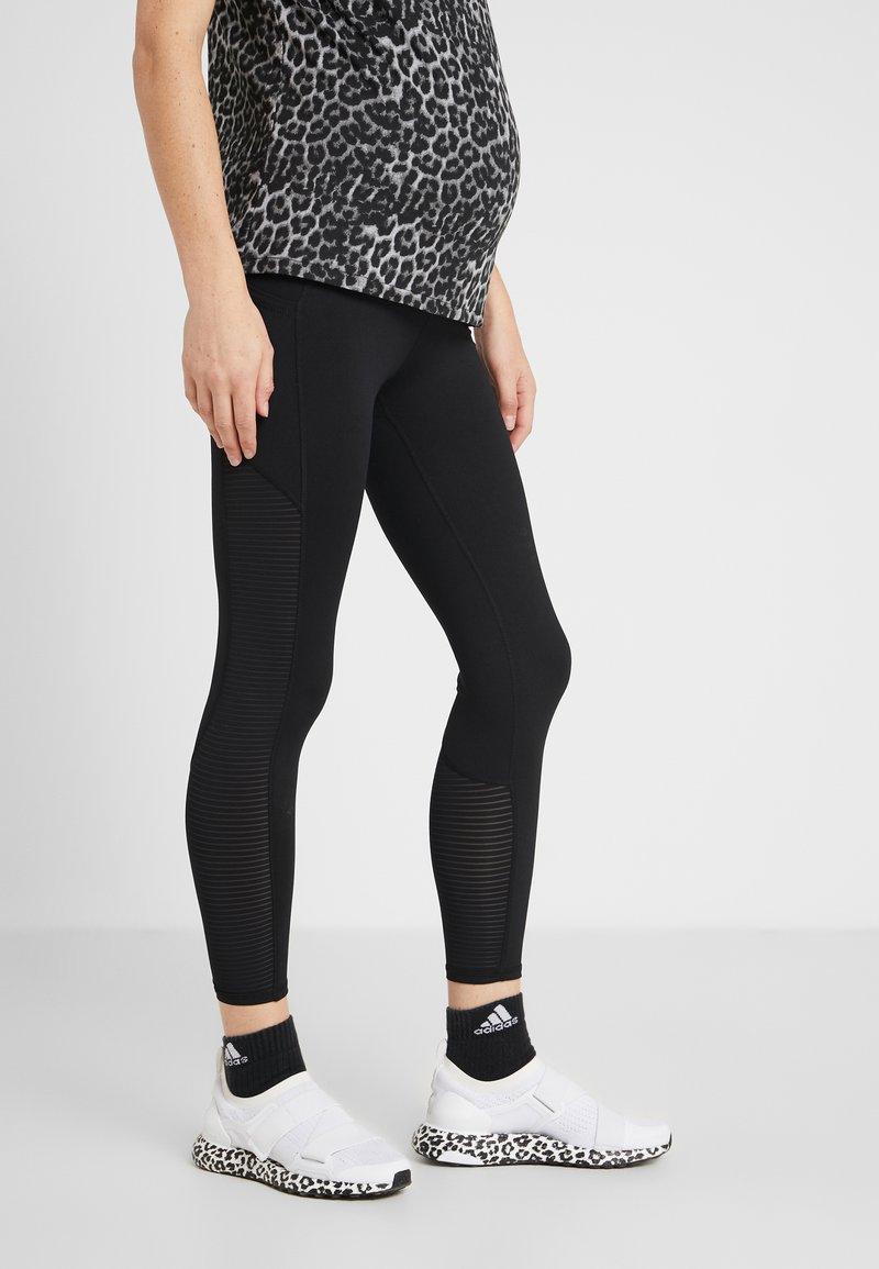 Cotton On Body - MATERNITY STRIPE  - Leggings - black