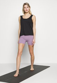 Cotton On Body - SO SOFT SHORT - Tights - concrete marle/faded grape marle - 1