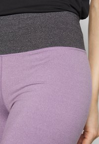 Cotton On Body - SO SOFT SHORT - Tights - concrete marle/faded grape marle - 4