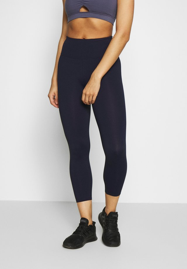 ACTIVE CORE CROPPED - Tights - navy