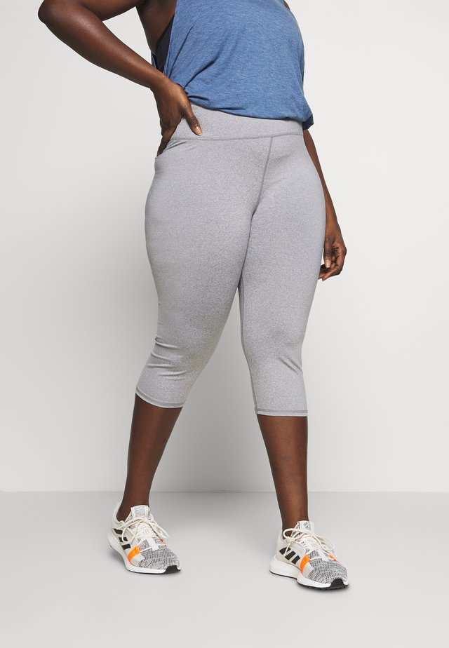 CURVE ACTIVE CORE CAPRI - Träningsshorts 3/4-längd - mid grey marle