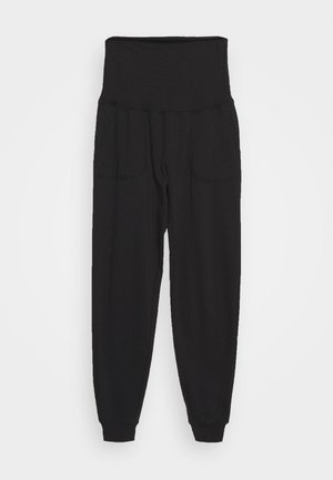 MATERNITY GYM TRACKIE - Tracksuit bottoms - black