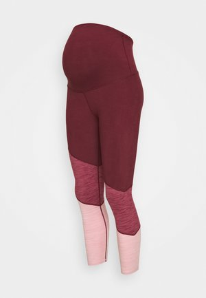 MATERNITY SO SOFT - Legginsy - mulberry marle splice