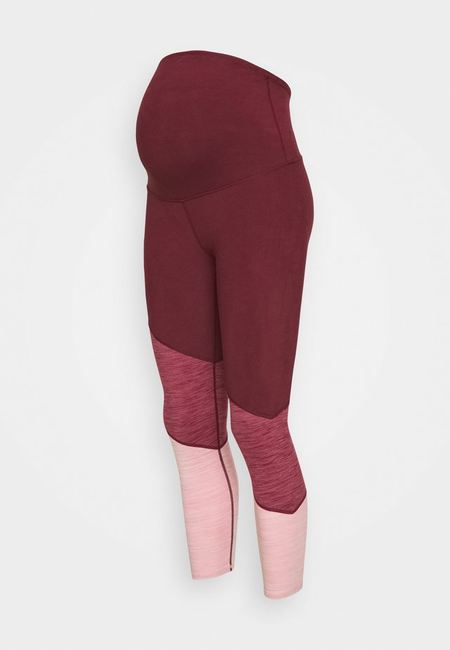 MATERNITY SO SOFT - Tights - mulberry marle splice
