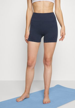 CROCHET SEAMFREE SHORT - Tights - washed navy