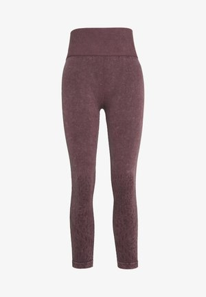 CROCHET SEAMFREE 7/8 - Leggings - washed grape