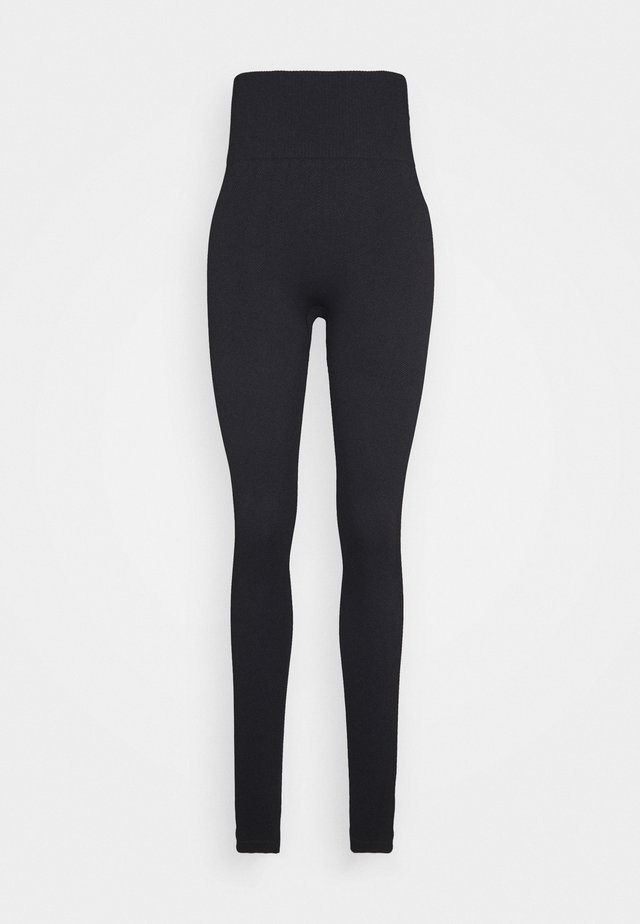 LIFESTYLE RIB SEAMLESS - Tights - black