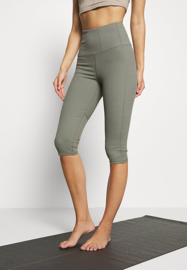 WORKOUT CAPRI - Pantalon 3/4 de sport - steely shadow