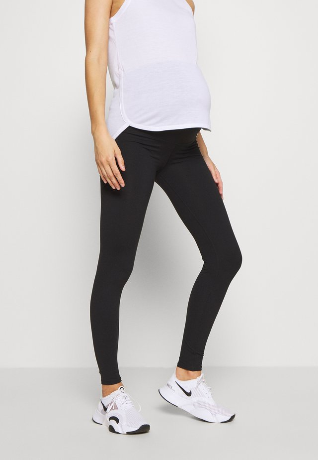 MATERNITY CORE OVER BELLY - Tights - black