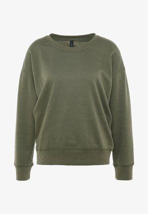 LONG SLEEVE CREW - Sweatshirt - khaki marle