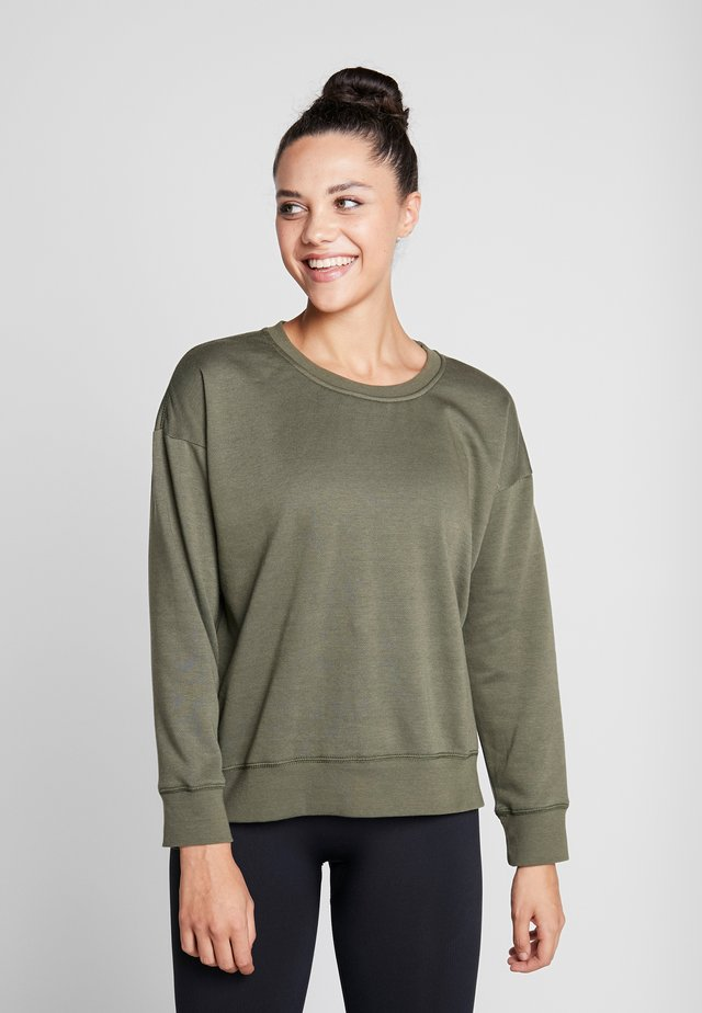 LONG SLEEVE CREW - Sweatshirt - khaki marle
