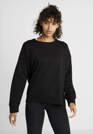 LONG SLEEVE CREW - Sweater - black
