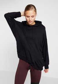 Cotton On Body - LONG LINE SPRING HOODIE - Jersey con capucha - black - 0