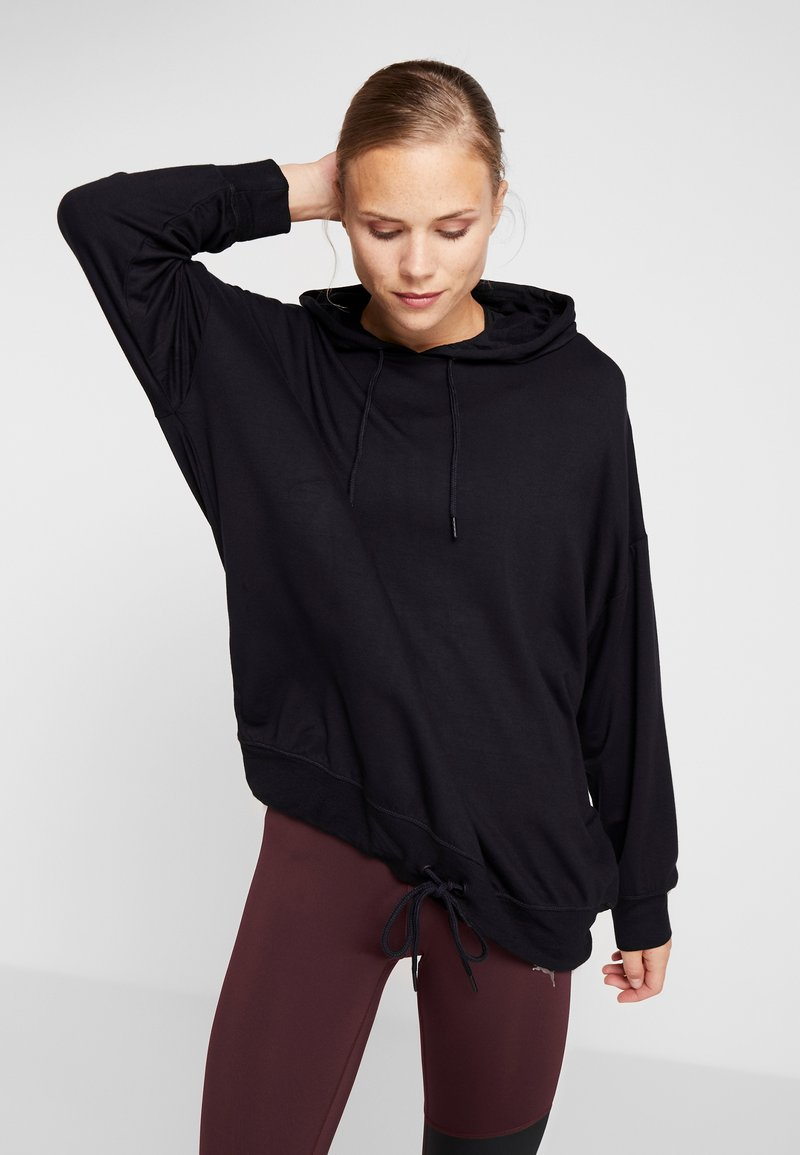 Cotton On Body - LONG LINE SPRING HOODIE - Jersey con capucha - black