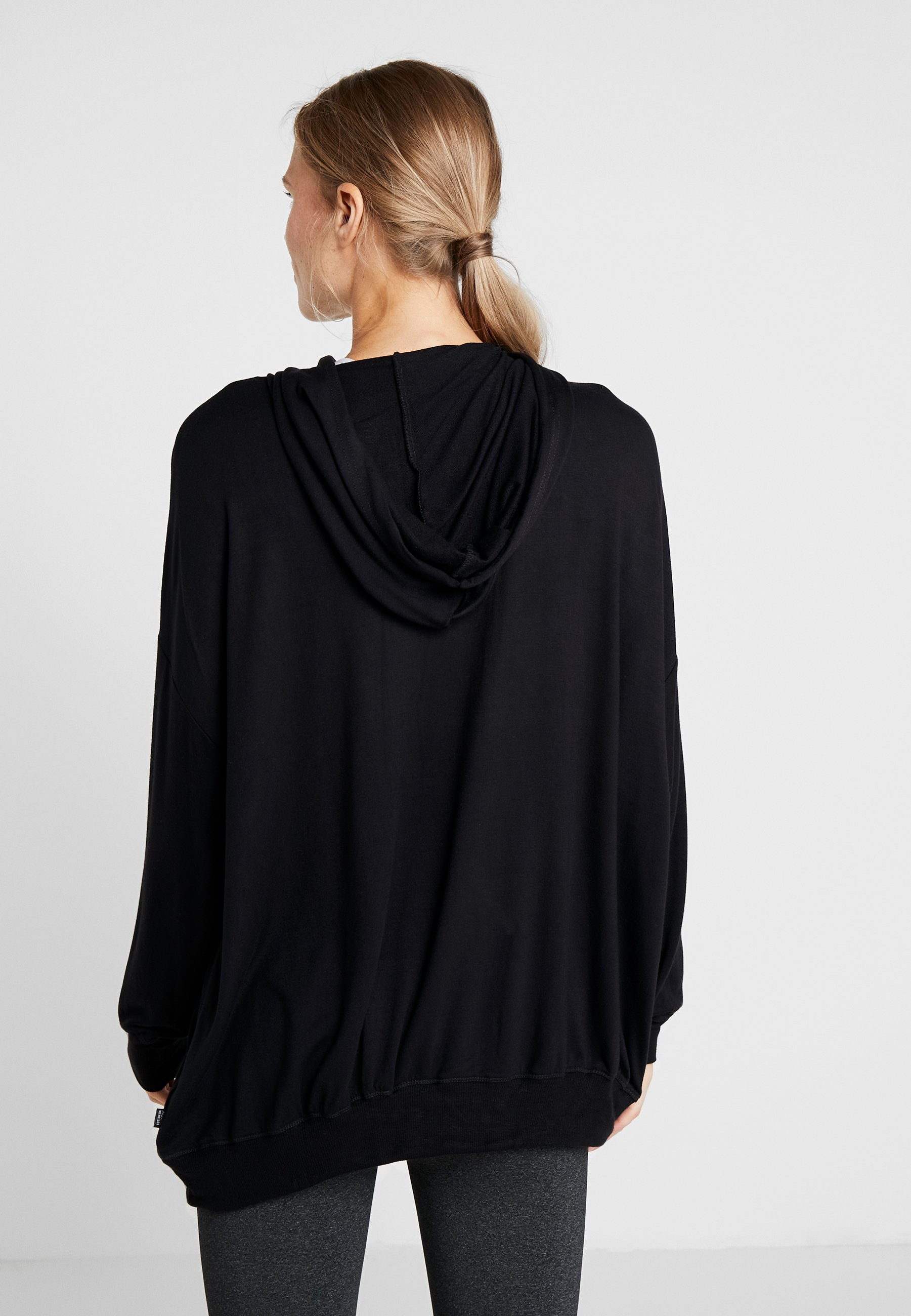 HoodieSweat Cotton Long Black À Body Line On Capuche Maternity w8m0yNOvn