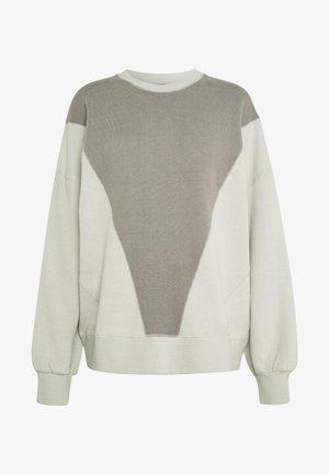 BLOCKED CREW TOP - Sweater - khaki/oatmeal splice