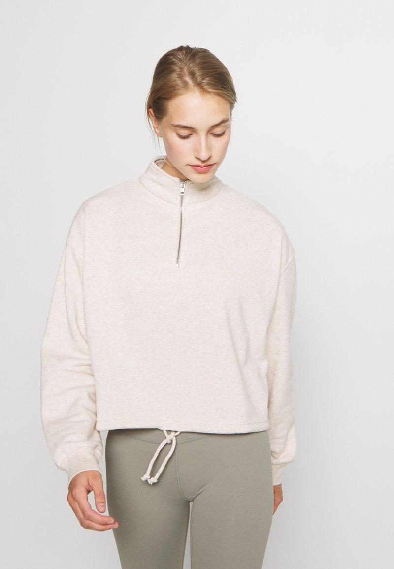 Cotton On Body - HALF ZIP CREW - Sweater - oatmeal marle