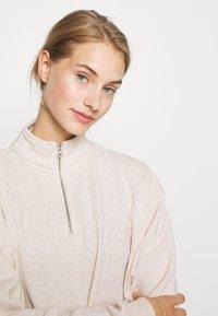Cotton On Body - HALF ZIP CREW - Sweater - oatmeal marle - 3